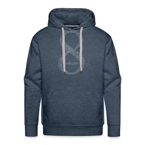 8 infinito line white - Men's Premium Hoodie