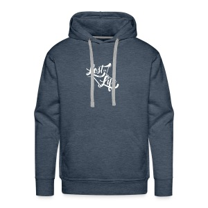 Lost in Life White on Dark - Men's Premium Hoodie