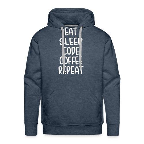 Eat Sleep Code Coffee - Men's Premium Hoodie