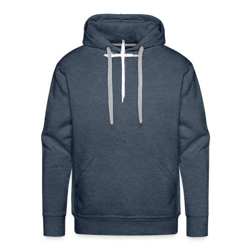 White Cross for Back of Shirt - Men's Premium Hoodie
