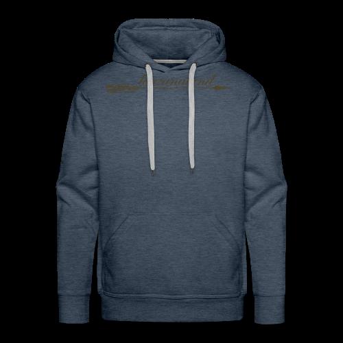 tarzanaland logo custom brown design - Men's Premium Hoodie