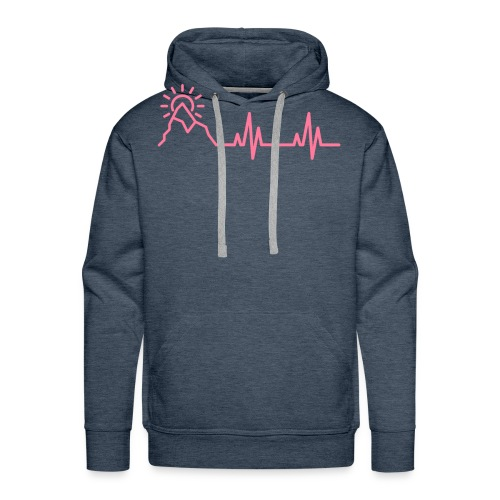 The Heartbeat of a Wanderer - Men's Premium Hoodie