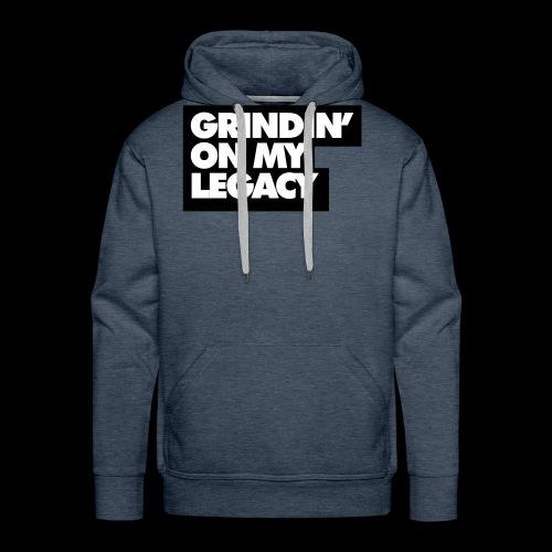 Grinding on My Legacy (Red) - Men's Premium Hoodie