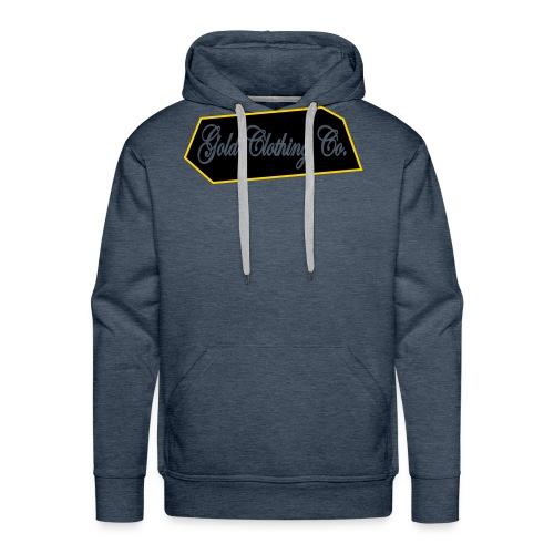 GOLD Clothing Co. Brick Logo - Men's Premium Hoodie