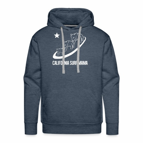 California Surf Mama - in white - Men's Premium Hoodie