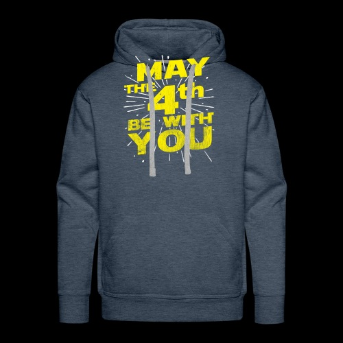 May The 4th Be With You Distressed - Men's Premium Hoodie