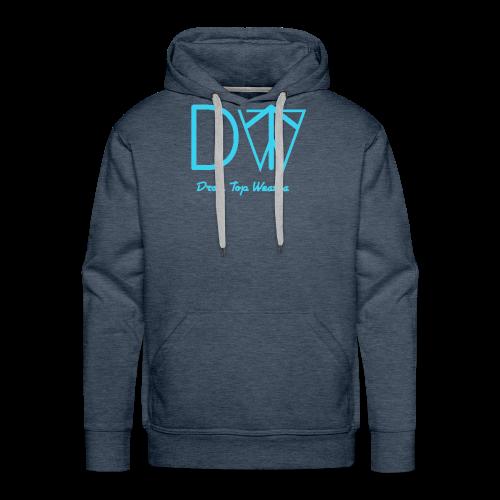 Drop Top Weatha logo Carolina Blue - Men's Premium Hoodie