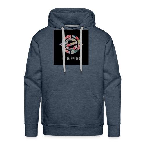 Floral Blackout - Men's Premium Hoodie