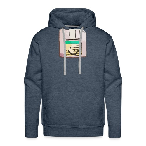 smiley floppy disk - Men's Premium Hoodie