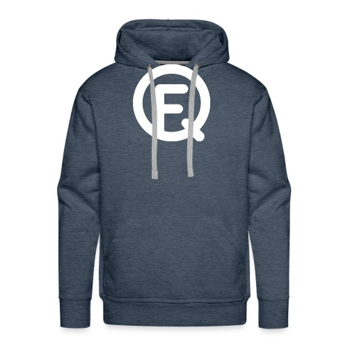 Fq White Logo - Men's Premium Hoodie