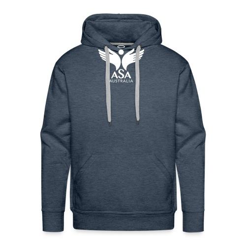 3459 Angelman Logo AUSTRALIA FA WHITE LR - Men's Premium Hoodie