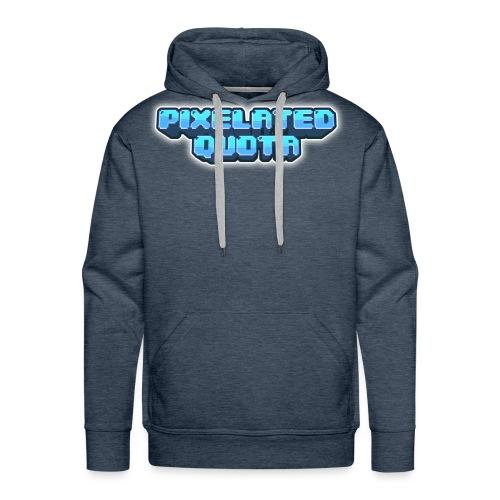 Pixel (Blue) - Men's Premium Hoodie