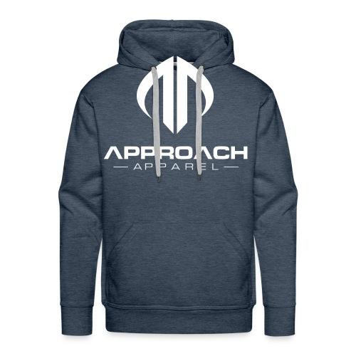 Approach Apparel Athletic Hoodie Shirt- White Logo - Men's Premium Hoodie