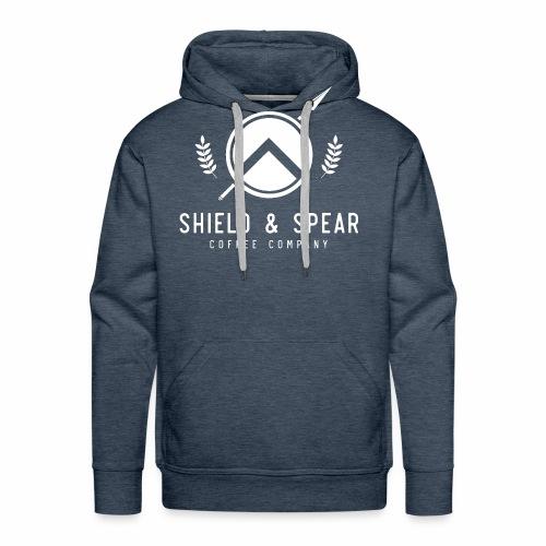 Shield and Spear White Logo - Men's Premium Hoodie