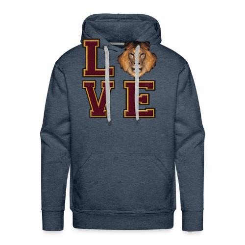 Lion Love Maroon Box - Men's Premium Hoodie