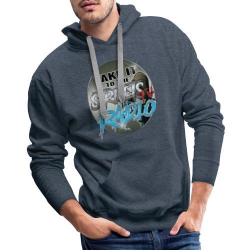 Takeit tothe streets cirlce logo - Men's Premium Hoodie