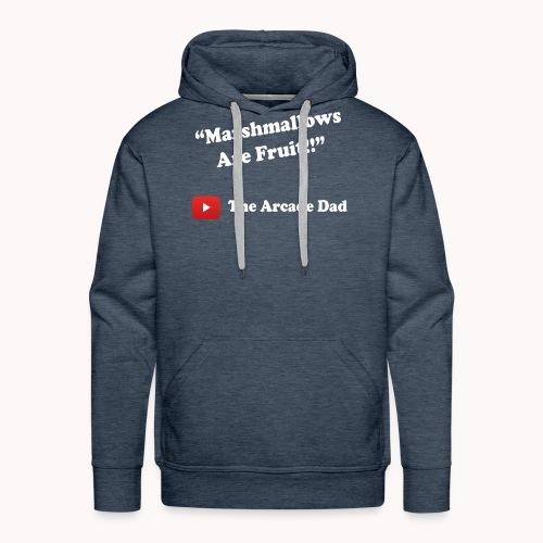 The Arcade Dad marshmallows are fruit shirt - Men's Premium Hoodie