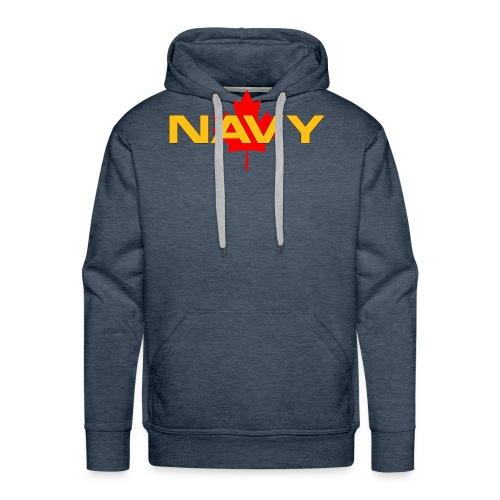 Navy Logo on Maple Leaf - Men's Premium Hoodie