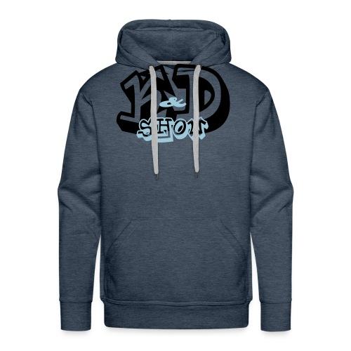 K&D Logo Black on Light Blue - Men's Premium Hoodie