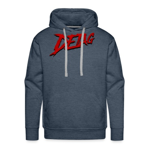 DETAG LOGO RED BLACK - Men's Premium Hoodie