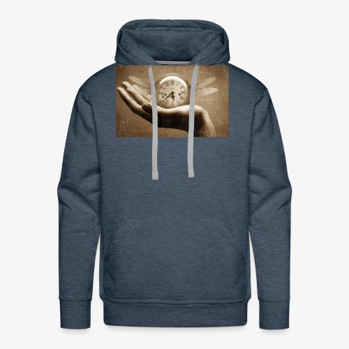 time flies and waits for nobody - Men's Premium Hoodie