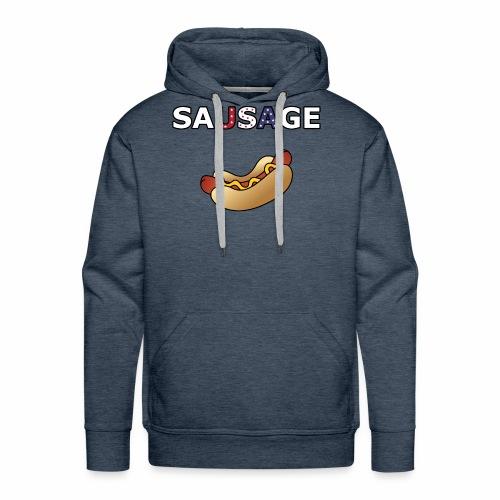 Patriotic BBQ Sausage - Men's Premium Hoodie