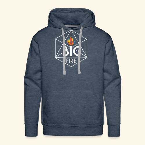 BiG Fire 2018 White - Men's Premium Hoodie
