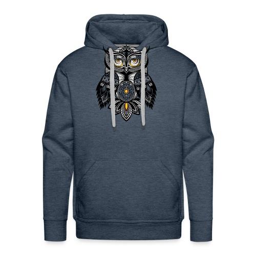 OWL Bohemian Design T-shirt BUHO FUNCLE - Men's Premium Hoodie