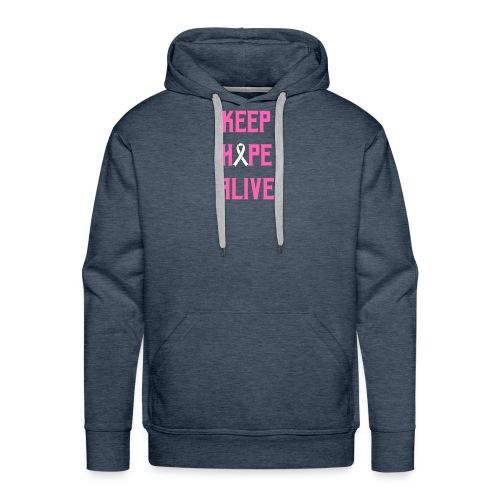 Keep Hope Alive Cancer Awareness T-Shirt - Men's Premium Hoodie