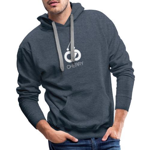 Cherry White Logo - Men's Premium Hoodie