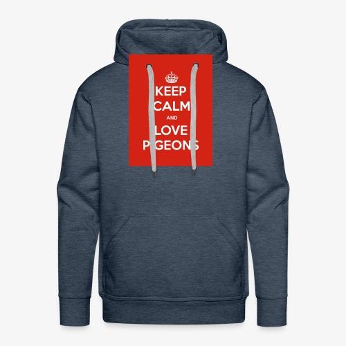 KEEP CALM AND LOVE PIGEONS - Men's Premium Hoodie