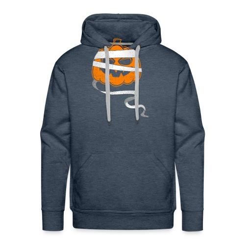 Halloween Bandaged Pumpkin - Men's Premium Hoodie