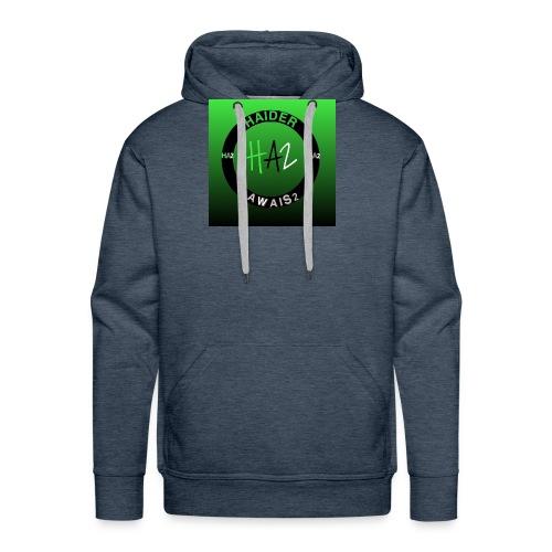 Haider Awais Logo Green - Men's Premium Hoodie