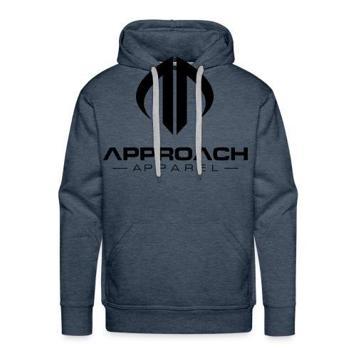 Approach Apparel Athletic Hoodie Shirt- Black Logo - Men's Premium Hoodie