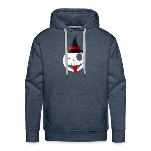 Halloween Emoticon - Men's Premium Hoodie