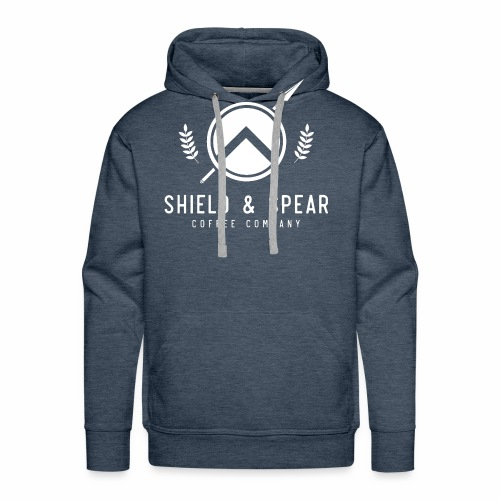 Shield and Spear White Logo - Men's Premium Hoodie