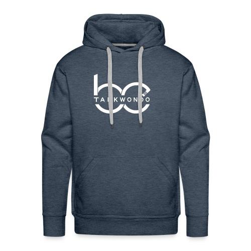 Logo emblem WHITE no bg - Men's Premium Hoodie