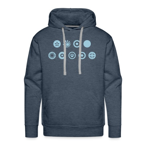 Axis & Allies Country Symbols - One Color - Men's Premium Hoodie