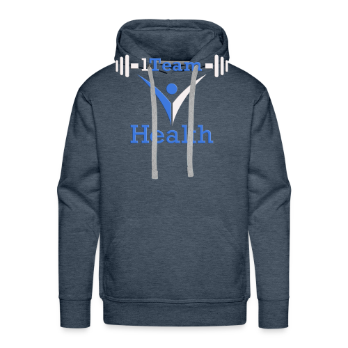 1TH - Blue and White - Men's Premium Hoodie
