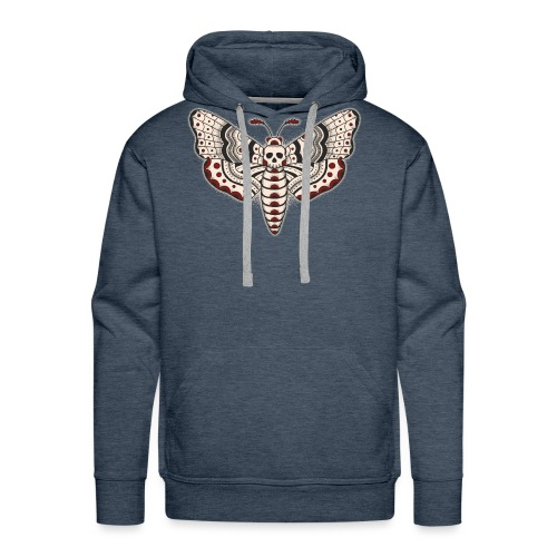 Death Head Moth Dark - Men's Premium Hoodie