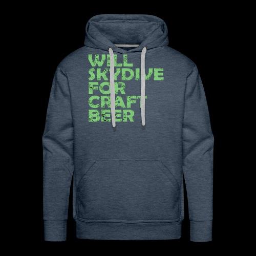 skydive for craft beer - Men's Premium Hoodie