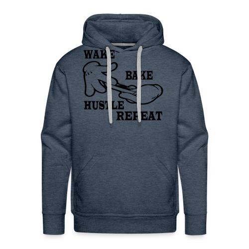 Wake bake hustle repeat - Men's Premium Hoodie