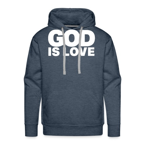 God Is Love - Ivy Design (White Letters) - Men's Premium Hoodie