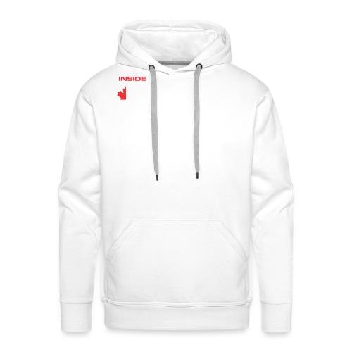 Inside Track White Logo - Men's Premium Hoodie