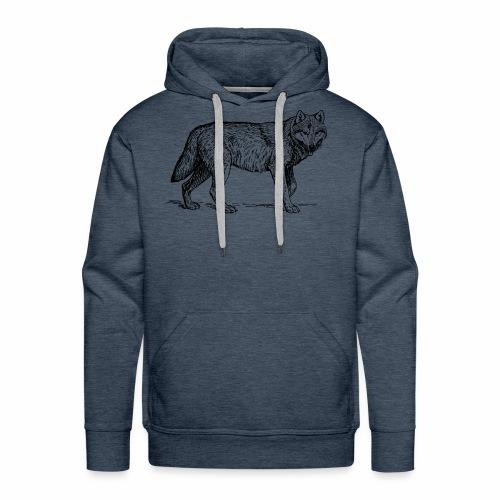 wolf T-shirt/wolf accessories/wolf apparel - Men's Premium Hoodie