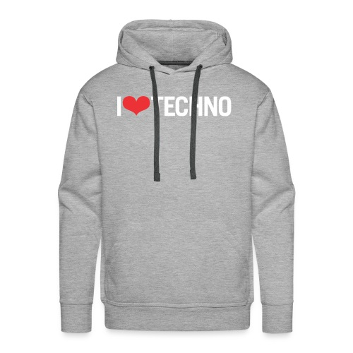 I Love Techno - Men's Premium Hoodie