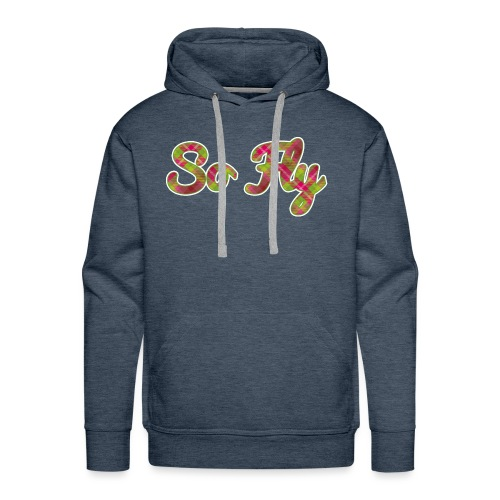 So Fly Pink and Green Plaid - Men's Premium Hoodie