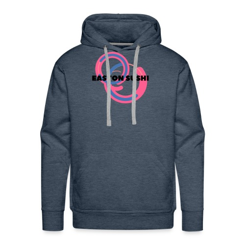 Easton Sushi Blue On Pink - Men's Premium Hoodie