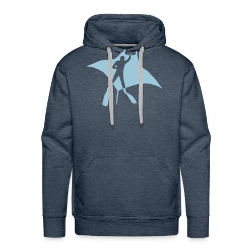 manta ray sting scuba diving diver dive fish ocean - Men's Premium Hoodie