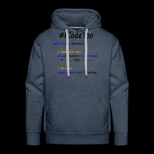 #ICodeToo coding diversity statement shirt - Men's Premium Hoodie